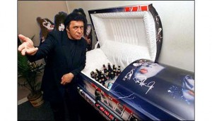 Gene Simmons and the KISS Coffin