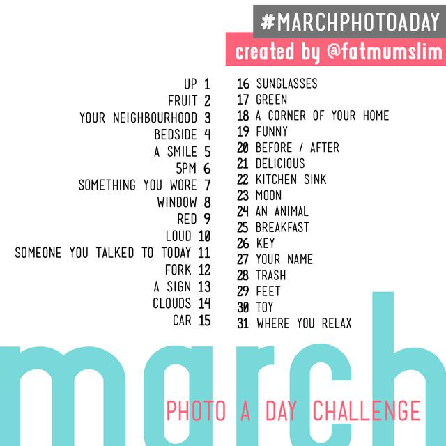 March photo a day plan