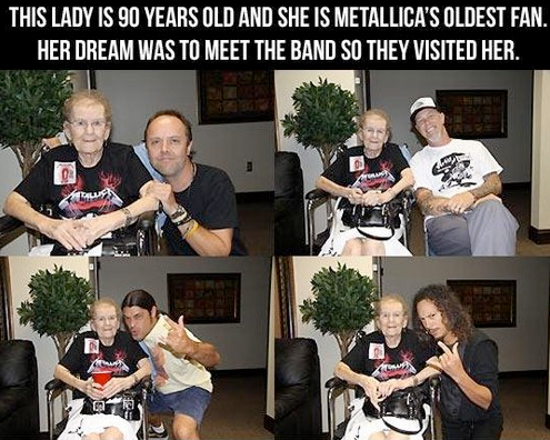 Metallica Meet 90 Year Old Fan